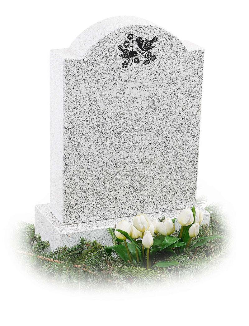 Білі пам'ятники на могилу. Пам'ятники з білого граніту
